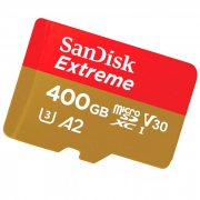 Карта памяти SanDisk Extreme microSDXC Class 10 UHS Class 3 V30 A2 160MB/s 400GB + SD adapter (SDSQXA1-400G-GN6MA)
