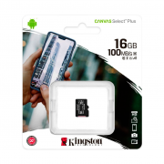 Карта памяти MicroSD Kingston 16Gb Class 10 Canvas Select Plus UHS-I U1 A1 (100Mb/s)