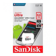 Карта памяти MicroSD SanDisk 64GB Class 10 (80 Mb/s) Ultra Android UHS-I