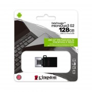 Флешка Kingston 128GB Data Traveler MicroDuo3 USB3.2/microUSB (DTDUO3G2/128GB)